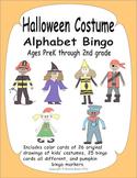 Halloween Alphabet Bingo and Memory Match - Fun costume dr