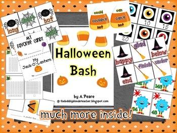 Halloween Bash Unit (Math, Literacy & Writing)