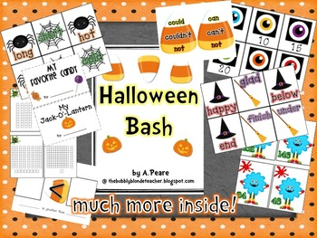 Halloween Bash Unit (Math, Literacy & Writing)