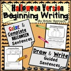Halloween Writing: Draw and Write Sentences