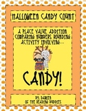 Halloween Candy Math- place value, addition, comparing num