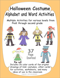 Halloween Costume Alphabet and Activities Unit - Varied fo