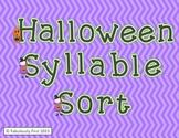 Halloween Fun Syllable Sort