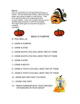 Halloween Game - Make a Pumpkin