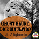 Halloween: Ghost Haunt Dice Simulation with Writing Connection