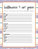 Halloween I Am Poem Worksheet