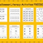 Halloween Literacy Activities FREEBIE - CCSS aligned