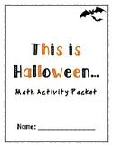 Halloween Math (Common Core Aligned)