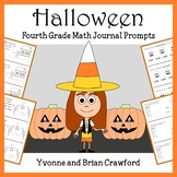 Halloween Math Journal Prompts (4th grade) - Common Core