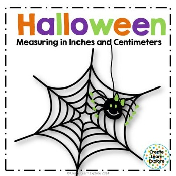 Halloween Measuring in Inches and Centimeters