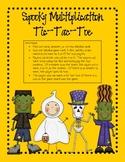 Halloween Multiplication Spooky Tic-Tac-Toe
