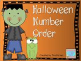 Halloween Number Ordering Math Center