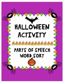 Halloween Parts of Speech Activity