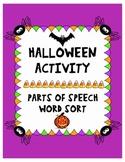 Halloween Parts of Speech Activity