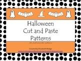 Halloween Pattern Worksheets- Ab, AAB and ABC patterns