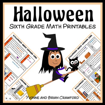 Halloween No Prep Common Core Math (6th grade)