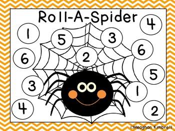 Halloween Roll-A-Spider