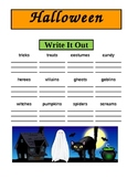 Halloween Spelling and Writing Activities - Common Core Practice