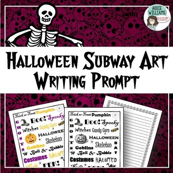 Halloween Subway Art - Writing / Poetry / Art Prompt - FREE