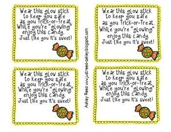 Halloween Treat Bag Tags {FREEBIE}