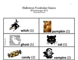 K-2 Literacy Centers: Halloween Vocabulary Games
