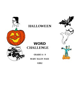Halloween Word Challenge Games