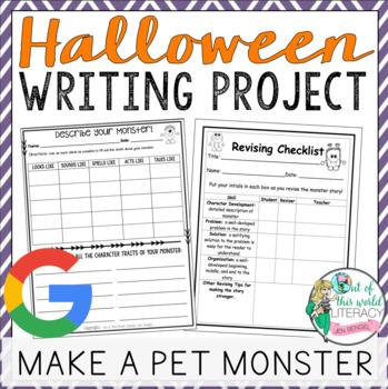 Halloween Writing Project: Make a Pet Monster!! Tons of Pr