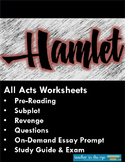 Hamlet Unit! The Complete Worksheets: Subplot, Revenge and