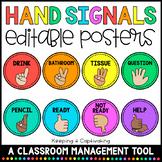 Hand Signals {Editable}