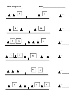 Collection of Hands On Equations Worksheet - Sharebrowse