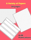 Handwriting Paper for Stories and More - 24 pages  - PDF