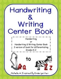 Handwriting and/or Writing Center Book