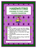 Handwriting with Trainer Dots for Proper Formation