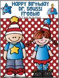 Happy Birthday Dr. Seuss...Freebie!!