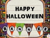 Happy Halloween and/or Boo Banner