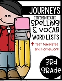Harcourt Journeys 3rd Grade Differentiated Spelling Lists