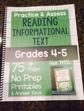 *Hard Copy* Practice & Assess READING INFORMATIONAL TEXT G