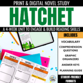 Hatchet Novel Study Foldable Trifold