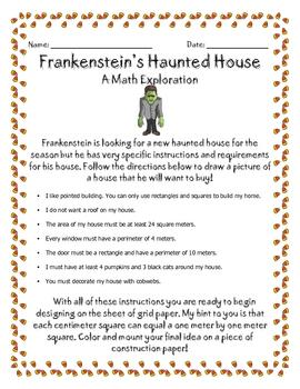 Haunted House Math Measurement