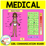 Autism Health Medical Board (GIRL) Body Parts PECS ABA