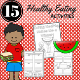 Healthy Eating Reading Comprehension Activities