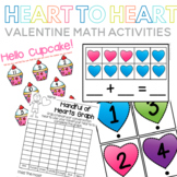 Heart to Heart Valentine Math Centers and Printables