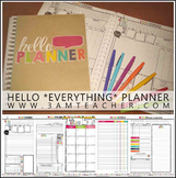 HELLO Planner for ANY Year!!  Over 200 Custom Pages