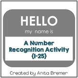 Hello My Name Is {number recognition activity}