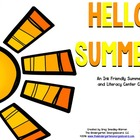 Hello Summer!  A BLACKLINE Math and Literacy Creation!