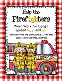 Help the Firefighters: Word Work for Long I spelled -y, ig