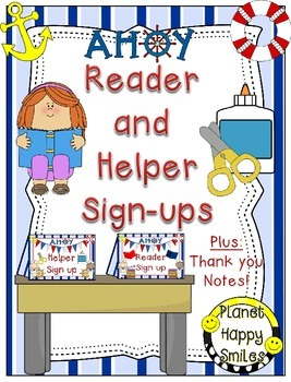 Helper and Reader Sign-ups ~ Nautical