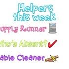 Helpers this week are:
