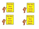 High Frequency Word Game --No Whammy and Stop Cards --Extr