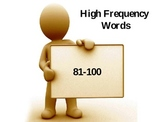 High Frequency Words Set #3